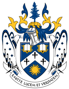 Laurentian University coat of arms via Wikipedia
