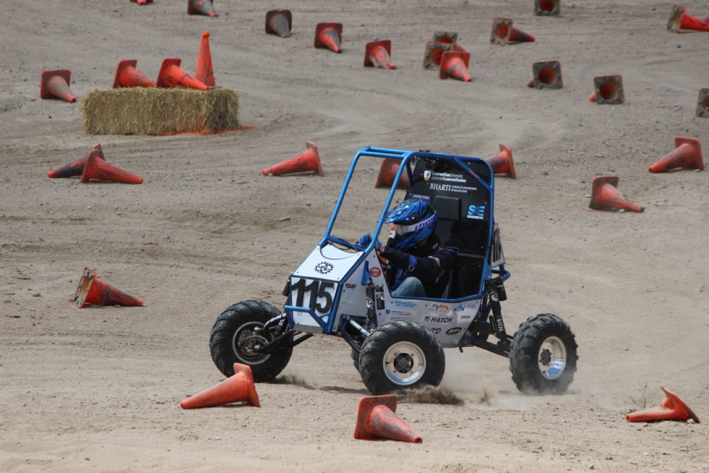 Colin taking on the maneuverability course (photo by Marc Arsenault)